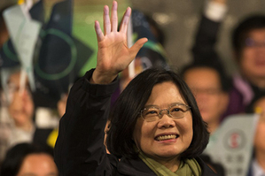 Tsai Ing-wen, candidate of the Democratic Progressive Party, won Taiwan's leadership election on Jan. 16, according to the final result of ballot counting released by the island's election commission. In a speech at the Kuomintang headquarters in Taipei, Tsai's rival KMT candidate Eric Chu acknowledged his failure.